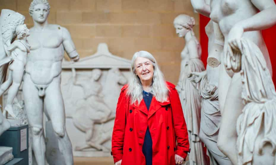 Mary Beard in her latest TV series, The Shock of the Nude, which examines depictions of the body through the history of western art.