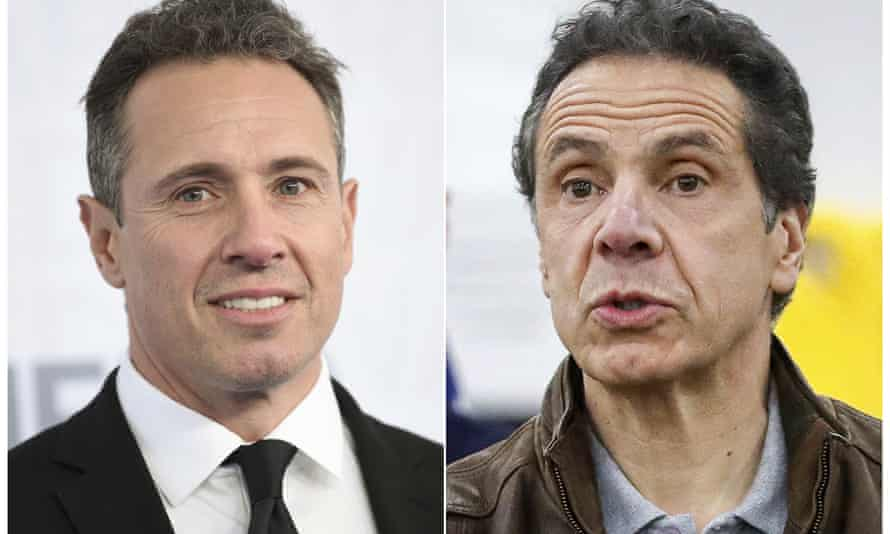 CNN news anchor Chris Cuomo, left, and his brother, New York governor Andrew Cuomo.