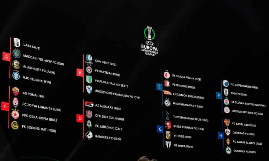 The Europa Conference League in full.
