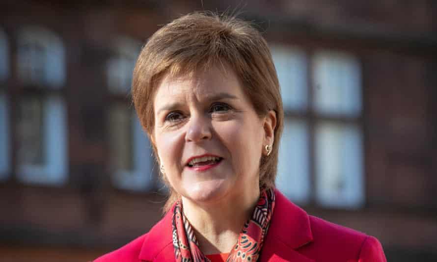 Nicola Sturgeon on the campaign trail in Glasgow
