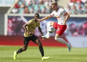 Werner in action against Eintracht Frankfurt.
