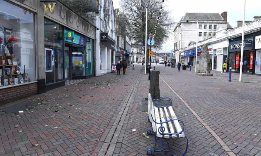 Empty central Eastbourne during lockdown.