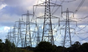 Pylons carrying electricity