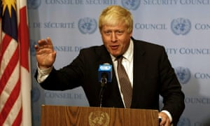 Boris Johnson at the UN security conference in New York.
