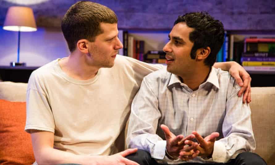 Jesse Eisenberg and Kunal Nayyar in The Spoils, at Trafalgar Studios, London.