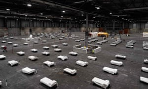 Madrid's Ifema convention centre has turned into a field hospital.