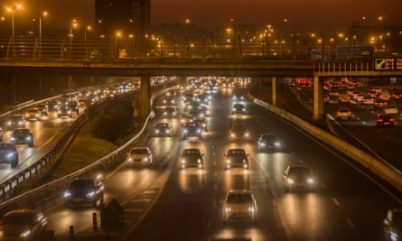 Traffic in Madrid, where the city council has recently banned all but zero-emissions vehicles from central areas.