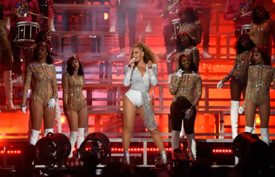 Beyoncé Knowles on stage at Coachella … captured in detail for posterity.