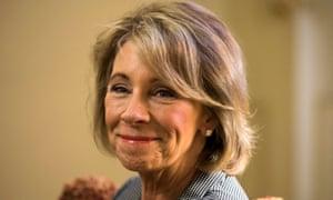 Betsy Devos, Trump's nominee for education secretary.