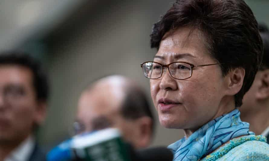 Carrie Lam, Hong Kong's chief executive, condemned protesters who occupied and ransacked the city's legislative chamber.