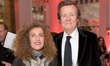 Artist Nicole Farhi and playwright David Hare