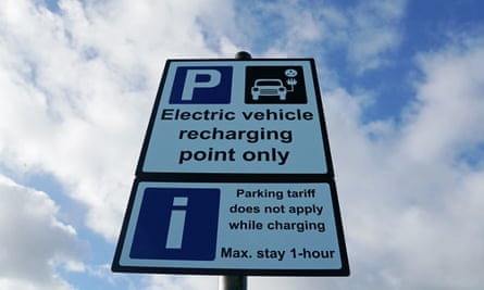 Signage at an electric vehicle charging point