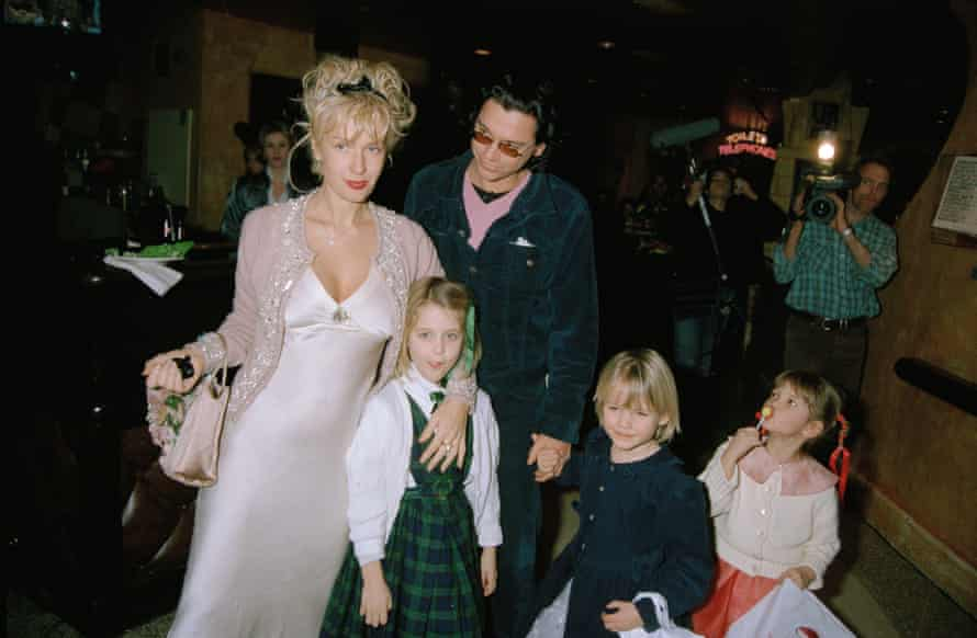 Princess PremierePaula Yates, Michael Hutchence and Paula's children attend a charity premiere after-party for 'A Little Princess' at Planet Hollywood in London, 5th February 1996. (Photo by Dave Benett/Getty Images)