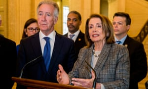 Richard Neal, chair of the ways and means committee, with Nancy Pelosi, the House speaker.
