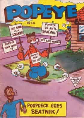 "Popeye ""beatnik"" comic from 1960"