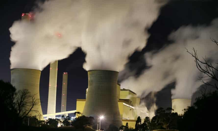 Loy Yang power station at night