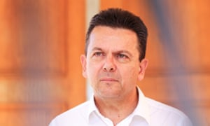 The SA Best leader, Nick Xenophon, in Adelaide on Saturday