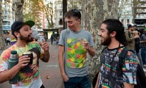 Pro-marijuana demonstrators