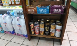 Something for everyone … protein bars and Special Brew.