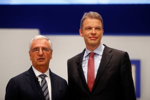 Deutsche Bank's Supervisory Board Chairman Paul Achleitner (left) and Christian Sewing (right)
