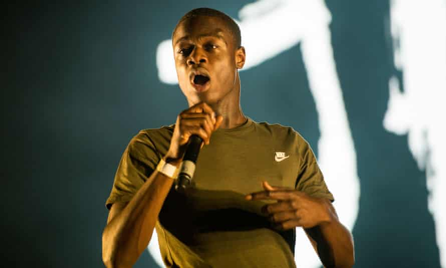 J Hus performing at the O2 arena, 27 August 2017.