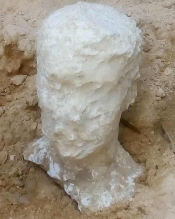 Alabaster head found in ancient Alexandrian tomb