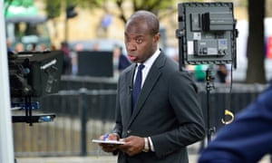 Clive Myrie presents the News at Ten with the better-paid Huw Edwards.