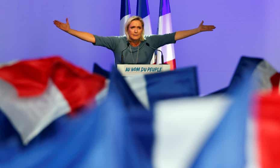 Marine Le Pen, the leader of the Front National, addresses a rally in Frejus, France, in September.