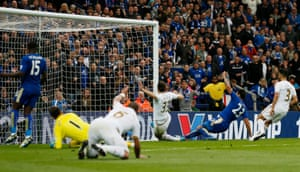 Ulloa scores the third for Leicester.
