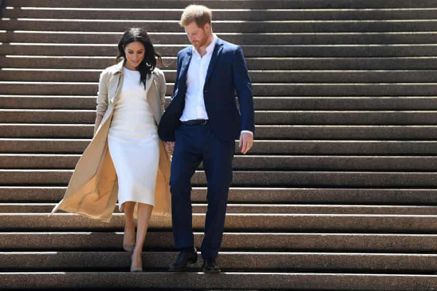 Prince Harry and Meghan at the Sydney Opera House in Sydney, Australia, 16 October 2018.