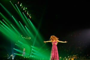Palpable joy … Shakira in concert.