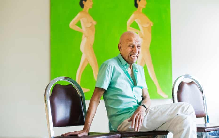 'The fire hasn't abated' … Alex Katz in his Soho loft in New York.