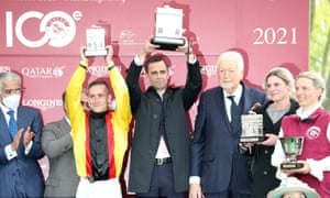 The Longchamp Arc winners presentation.