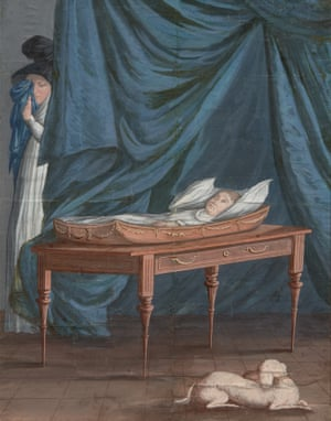 Death of William - Michele Felice Cornè.  A deathbed portrait of a child with a mother close by, serving as a reminder that it was the maternal force that remained intimately involved with an infant's final hours.