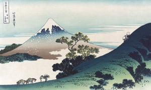 'The joyful people are those who find their second mountain': The Inume Pass in Kai province by Katsushika Hokusai.