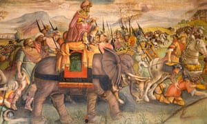 Painting of Hannibal on an elephant