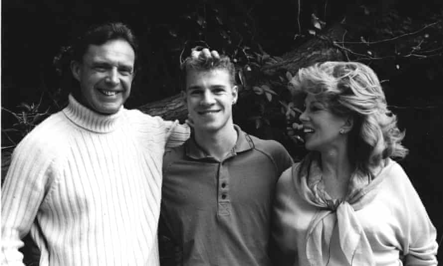 'A handsome, rich, compliant handbag': Bill Byrne with Anne and Adam. He remained loyal to them into adulthood.
