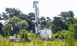 A fracking site