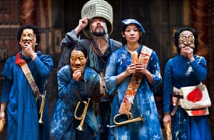 The Chiten theatre company from Kyoto performed Coriolanus at Shakespeare's Globe in 212 for the Globe to Globe festival.