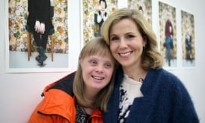 Sally Phillips with Halldóra, one of the few people in Iceland with Down's