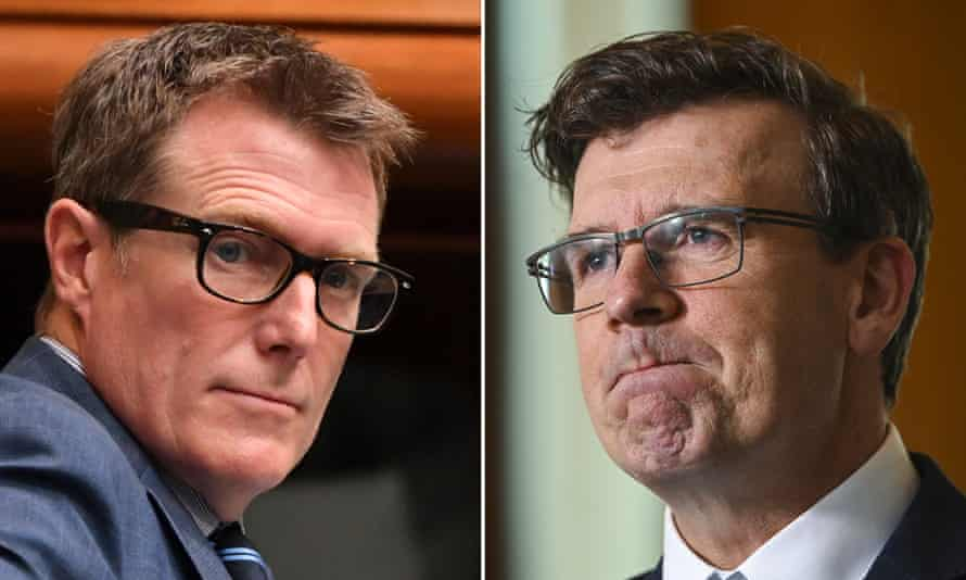 Attorney general Christian Porter (left) and acting immigration minister Alan Tudge.