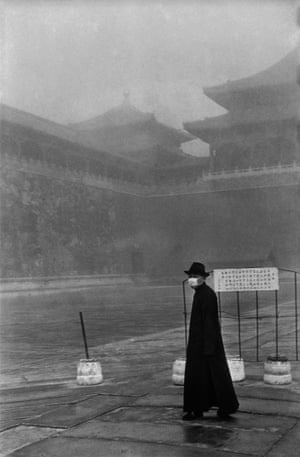 A visitor to the Forbidden City, Beijing, December 1948