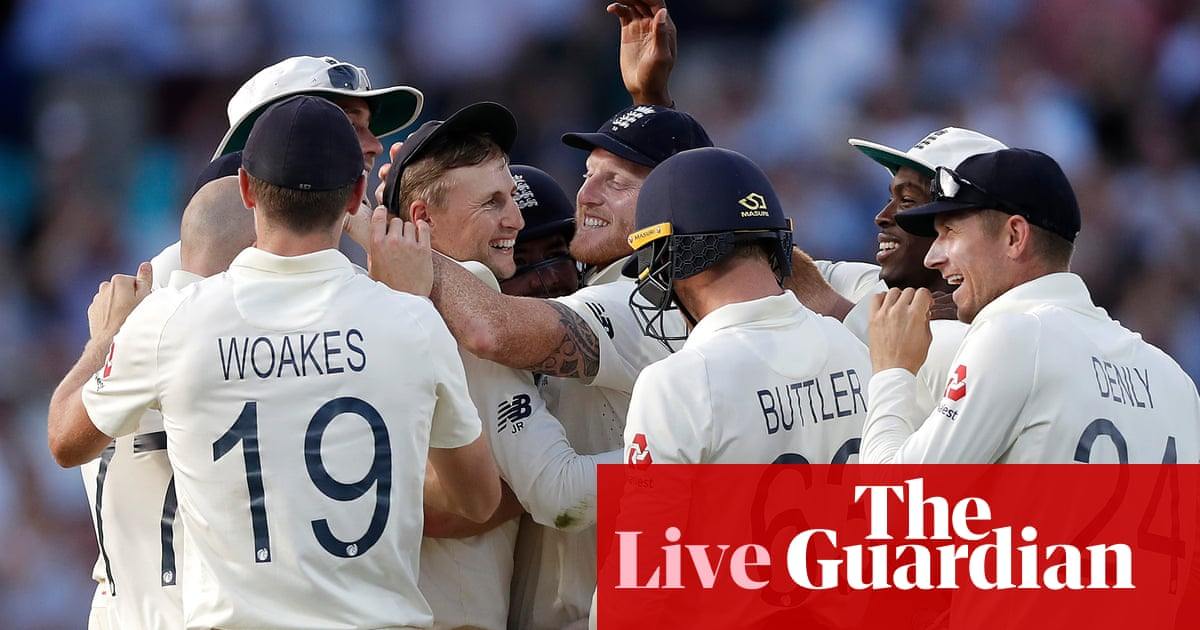 Ashes 2019: England win fifth Test by 135 runs as series is drawn – live!