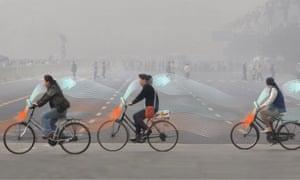 Studio Roosegaarde's smog-free bicycle.