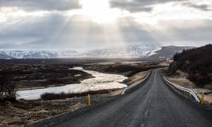Road near Húsafell, Iceland