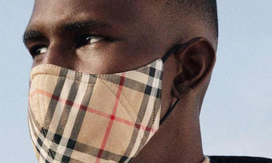 Reusable Burberry face mask costing £90