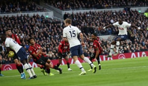 Davinson Sanchez scores a goal that is ruled out for handball.