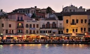The old port of Chania in more normal weather.