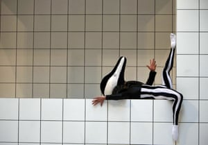 A performer in Anthea Hamilton's Tate Britain Commission.