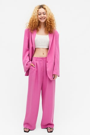Make a statement in a bright suit. Pink, £40, monki.com
